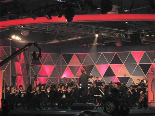 澳門樂團為頒奬晚會作現場演奏中西名曲